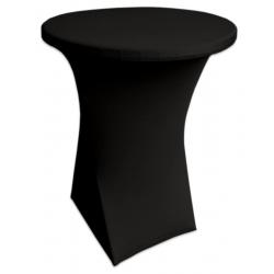 Стейчевый чехол на коктейльный стол цвет черный для столов d-80 см. h-110 см,