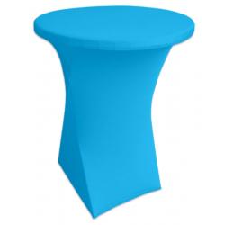 Стейчевый чехол на коктейльный стол цвет голубой для столов d-80 см. h-110 см,