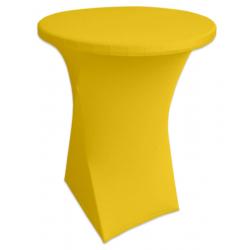 Стейчевый чехол на коктейльный стол цвет желтый для столов d-80 см. h-110 см,