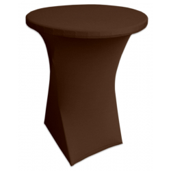 Стейчевый чехол на коктейльный стол цвет коричневый для столов d-80 см. h-110 см,