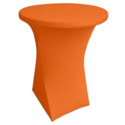 Стейчевый чехол на коктейльный стол цвет оранжевый для столов d-80 см. h-110 см,