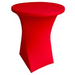 Стейчевый чехол на коктейльный стол цвет красный для столов d-70 см. h-110 см,