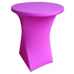 Стейчевый чехол на коктейльный стол цвет розовый для столов d-70 см. h-110 см,