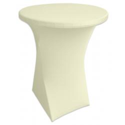 Стрейчевый чехол на коктейльный стол цвет шампань для столов d-80 см. h-110 см,