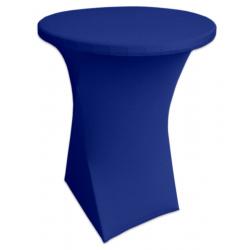 Стейчевый чехол на коктейльный стол цвет синий для столов d-70 см. h-110 см,