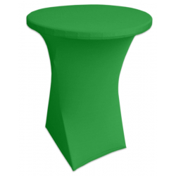 Стейчевый чехол на коктейльный стол цвет зеленый для столов d-80 см. h-110 см,