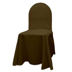 Универсальный чехол на стул цвет коричневый