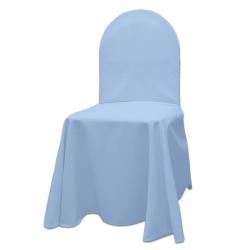 Универсальный чехол на стул цвет голубой