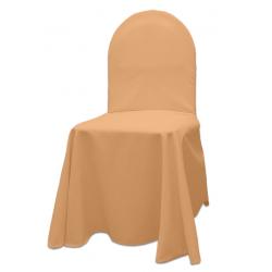 Универсальный чехол на стул цвет персиковый