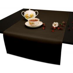 Дорожка на стол 120х45 см. Ричард без рисунка цвет темно-коричневый