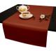 Дорожки на стол 120х45 см. ткань Ричард цвет терракотовый
