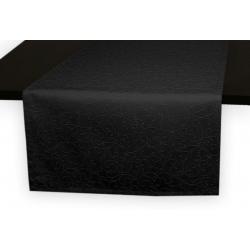 Дорожки на стол 120х45 см. ткань коллекции Ричард рисунок тонкий вензель 1812 цвет черный