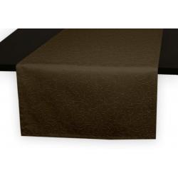 Дорожка на стол 120х45 см. ткань коллекции Ричард рисунок тонкий вензель 1812 цвет темно-коричневый