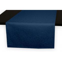 Дорожки на стол 120х45 см. ткань коллекции Ричард рисунок тонкий вензель 1812 цвет синий