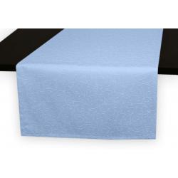 Дорожки на стол 120х45 см. ткань коллекции Ричард рисунок тонкий вензель 1812 цвет голубой