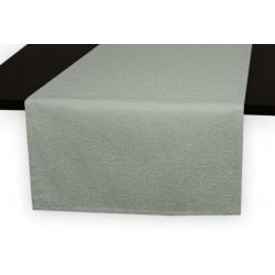 Дорожка на стол 120х45 см. ткань коллекции Ричард рисунок тонкий вензель 1812 цвет серый