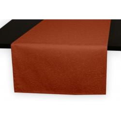 Дорожки на стол 120х45 см. ткань коллекции Ричард рисунок тонкий вензель 1812 цвет терракотовый