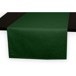 Дорожки на стол 120х45 см. ткань коллекции Ричард рисунок тонкий вензель 1812 цвет зеленый