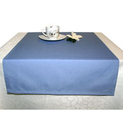 Дорожка на стол 120х45 см. ткань Profline цвет голубой пр-во Турция