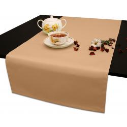 Дорожка на стол 120х45 см. ткань Duz Saten цвет кремовый пр-во Турция