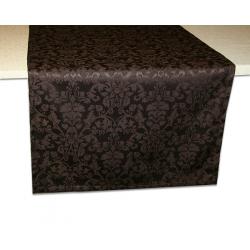 Дорожка на стол 120х45 см. ткань Журавинка рисунок 1472, цвет темно-коричневый