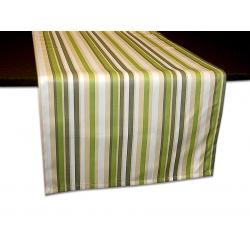 Дорожка на стол 120х45 см. ткань Журавинка полоса, цвет зелено-бежевый