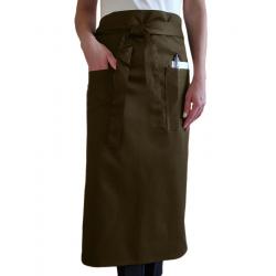 Фартук официанта с карманами цвет коричневый