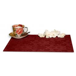 Подтарельники 45х35 см. ткань Ричард с цветочным рисунком цвет бордовый