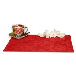 Подтарельники 45х35 см. ткань Ричард с цветочным рисунком цвет красный
