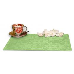 Подтарельники 45х35 см. ткань Ричард с цветочным рисунком цвет салатовый