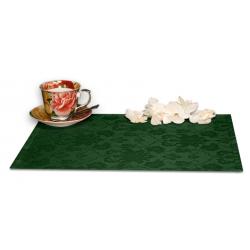 Подтарельники 45х35 см. ткань Ричард с цветочным рисунком цвет зеленый