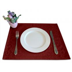 Подтарельники 45х35 см. ткань Ричард 1751 цвет бордовый