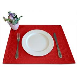 Подтарельники 45х35 см. ткань Ричард 1751 цвет красный