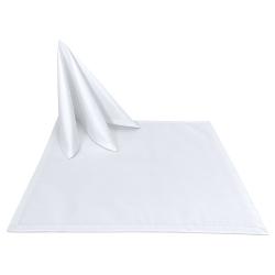 Салфетки 45х45 см ткань Ричард без рисунка цвет белый