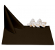 Салфетки 45х45 см ткань Ричард без рисунка цвет коричневый