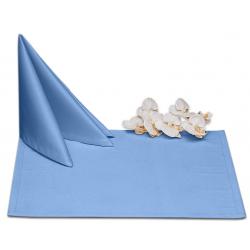 Салфетки 45х45 см ткань Ричард без рисунка цвет голубой