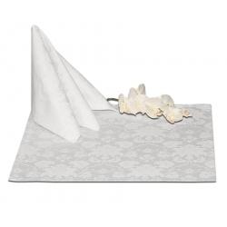Салфетки 45х45 см ткань Ричард 1589 (цветы) цвет белый