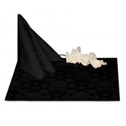Салфетки 45х45 см ткань Ричард 1589 (цветы) цвет черный