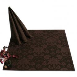 Салфетки 45х45 см ткань Ричард 1589 (цветы) цвет коричневый
