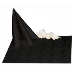 Салфетки 45х45 см ткань Ричард 1625 (перья) цвет черный