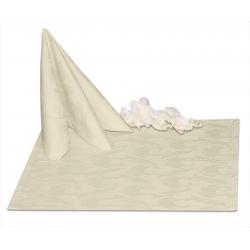 Салфетки 45х45 см ткань Ричард 1625 (перья) цвет шампань