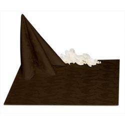 Салфетки 45х45 см ткань Ричард 1625 (перья) цвет коричневый