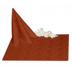 Салфетки 45х45 см ткань Ричард 1625 (перья) цвет терракотовый