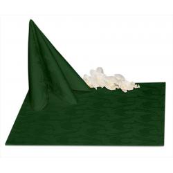 Салфетки 45х45 см ткань Ричард 1625 (перья) цвет зеленый