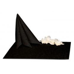 Салфетки 45х45 см ткань Ричард 1751 (крупный вензель) цвет черный