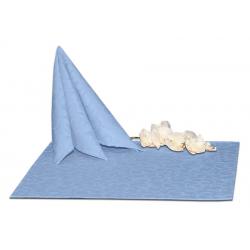 Салфетки 45х45 см ткань Ричард 1751 (крупный вензель) цвет голубой