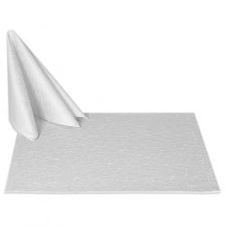 Салфетки 45х45 см ткань Ричард 1812 (тонкий вензель) цвет белый