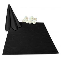 Салфетки 45х45 см ткань Ричард 2131 (круги) цвет черный