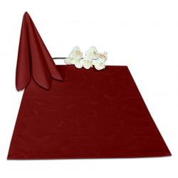 Салфетки 45х45 см ткань Ричард 2131 (круги) цвет бордовый