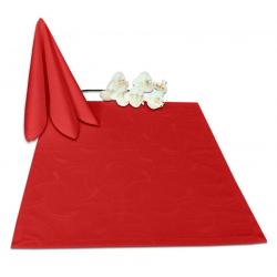 Салфетки 45х45 см ткань Ричард 2131 (круги) цвет красный